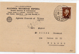 CARTOLINA CON AFFRANCATURA INTERESSANTE - 11 - Stamps (pictures)