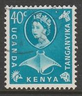 Kenya  1960 Flowers, Animals And Local Motives 40 C Blue SW 84 O Used - Kenya, Uganda & Tanganyika