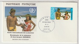 POLYNESIE - FDC  - 18 Septembre 1985 - FDC
