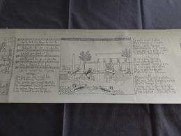 Complaintes Des Juifs Scènes + Textes En Egypte Sur Un Rouleau De 8,50 * 0,27 M  Par M.QVILLIARD 1922-1940 - Religion & Esotérisme