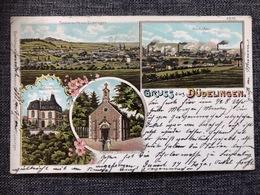 Luxembourg * 1903 Düdelingen - Dudelange - Hochöfen , Totalansicht, Kapelle, Schloss - Dudelange