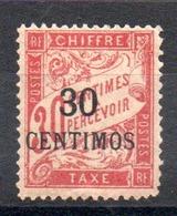 MAROC - YT Taxe N° 3 - Neuf * - MH - Cote: 36,00 € - Morocco (1891-1956)