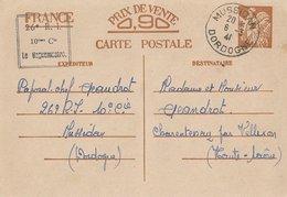 Entier Postal 90c Iris 26ème RI Mussidan - WW II