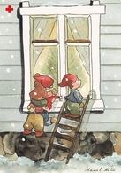Postal Stationery - Birds - Bullfinches - Elves Look At The Window - Red Cross 2005 - Suomi Finland - Postage Paid - Postwaardestukken