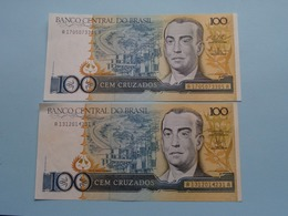 CEM 100 CRUZADOS > BRASIL ( For Grade, Please See Photo ) ! - Brésil