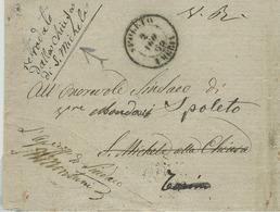 LETTERA (FASCETTA ???)VIAGGIATA 1865,ANDATA E RITORNO,CON MOLTI TIMBRI E DUE ANNOTAZIONI NON COMUNI,RR - 1861-78 Vittorio Emanuele II