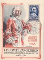 FRANCE - Carte-Maximum FDC - Journée Du Timbre 1953 - Cartes-Maximum