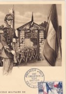 FRANCE - Carte-Maximum FDC - Saint-Cyr - 1950-59