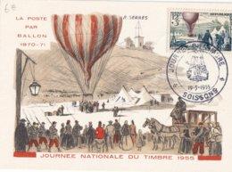 FRANCE - Carte-Maximum FDC - Journée Du Timbre 1955 - Cartes-Maximum