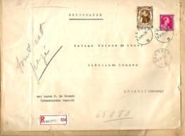 Belgique TP 428 + 581  L. Rec. Hasselt > Lummen  1941 - Belgium
