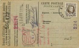 Belgique TP 196 CP  Elingen > La Croyère  Perfin FB Soc. Franco-Belge De Matériel De Chemin De Fer De La Croyère  1926 - 1922-1927 Houyoux