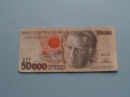 CINQUENTA MIL 50000 CRUZEIROS > BRASIL ( For Grade, Please See Photo ) ! - Brésil