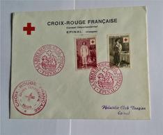 Enveloppe 1er Jour CROIX ROUGE  08 12 1956 Avec Timbres YT N° 1089 Et 1090 Par Conseil Départemantal CR VOSGES - FDC