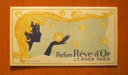 Carte Parfumée L.T. Piver, Rêve D'Or - Anciennes (jusque 1960)