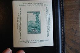 U.S.A. 1937 - 10c Vert - Asheville (Mont Le Conte) -   - Y.T.  BF 7  - Neuf (**) Mint (MNH) - Blocs-feuillets