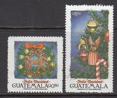 2015 Guatemala Navidad Christmas   Complete Set Of 2 MNH - Guatemala