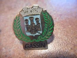 A038 -- Pin's Blason Gassin - Villes