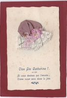 VIVE LA SAINTE CATHERINE BONNET EN DENTELLE - Embroidered