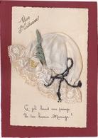 VIVE LA SAINTE CATHERINE BONNET EN DENTELLE - Brodées