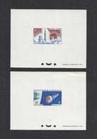 NOUVELLE-CALEDONIE .  YT  Epreuve DeLuxe  PA  N° 84/85  Neuf **  1966 - Ongetande, Proeven & Plaatfouten