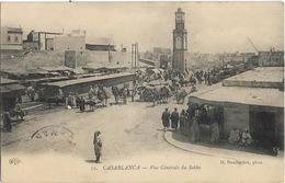 MAROC - CASABLANCA - VUE GENERALE DU SOKKO - Charrettes-Chevaux-Ânes-Nombreuses Personnes - Casablanca