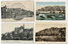 LOT 4 CP Israël * JAFFA (carte Pionnière) Vu De La Mer BALBECK Vue Prise De La Mer Vue Générale - Israel