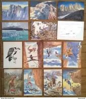 Lot De 14 Cartes Postales / Animaux / Aquarelles D'Alexis NOUAILHAT - Andere Illustrators