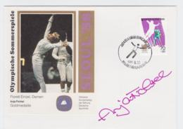 Autograph Cover Cover 1988 Seoul Olympic Games  - Florett, Anja Fichtel (T4-37) - Sommer 1988: Seoul
