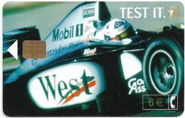 Spain - Telefónica - West Tobacco Formula 1 - CP-240 - 01.2002, 6€, 8.655ex, Used - Conmemorativas Y Publicitarias