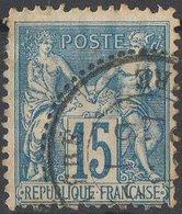Oblitération Pointillée 25      CERE INDRE ET LOIRE - 1876-1898 Sage (Type II)