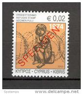 Cyprus 2013 Special Refugees Fund Stamp SPECIMEN MNH (G546) - Unused Stamps