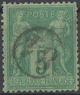 Oblitération Jour De L'an Cercle 81 - 1876-1898 Sage (Type II)