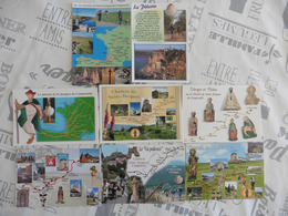 LOT DE 8  CARTES POSTALES  NEUVES   CHEMIN  DE  ST  JACQUES DE COMPOSTELLE - 5 - 99 Cartes