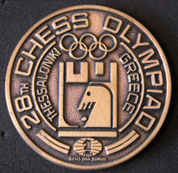 """GREECE BRONZE MEDAL 1988 """"Thessaloniki 1988 28th Chess Olympiad"""" """"free Shipping Via Registered Air Mail"""" - Tokens & Medals"""