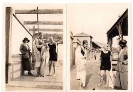 St Saint Raphael Valescure Plage 1922 Cabines Jeune Femme En Maillot De Bain Jeun Homme - Lieux