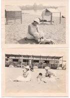 St Saint Raphael Valescure Plage 1922 Cabines  Femme Avec Chien - Lieux