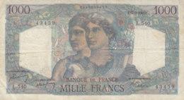 Billet 1000 F Minerve Et Hercule Du 17-2-1949 FAY F 41.25 Alph. L.540 - 1 000 F 1945-1950 ''Minerve Et Hercule''