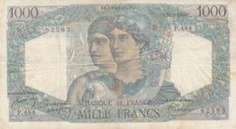 Billet 1000 F Minerve Et Hercule Du 26-8-1948 FAY F 41.23 Alph. P.484 - 1871-1952 Anciens Francs Circulés Au XXème