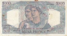 Billet 1000 F Minerve Et Hercule Du 17-1-1946 FAY F 41.10 Alph. R.182 - 1871-1952 Circulated During XXth