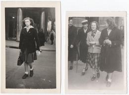 NANCY (54) PHOTO X 2 . JEUNES FEMMES. MODE ANNEES 45-50. - Personnes Anonymes