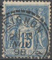 Oblitération Pointillée B  BEIGNON MORBIHAN - 1876-1898 Sage (Type II)