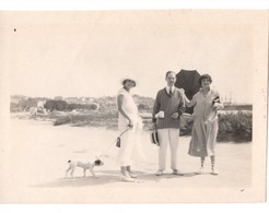 St Saint Raphael Valescure Plage 1922  Femme Avec Chien Couple Parasol - Lieux