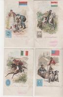 Présentation De Timbres - La Poste Au Mexique , Aux Etas Unis ,en Serbie, En Hongrie - Lot De 4 CPA - Poste & Postini
