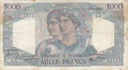 Billet 1000 F Minerve Et Hercule Du 12-4-1945 FAY F 41.01 Alph. L.4 - 1871-1952 Antichi Franchi Circolanti Nel XX Secolo