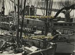 DOUARNENEZ Le Port Vers 1950 Grande Photo 16,7 X 22,4 Cm Finistère 29 Bretagne - Places
