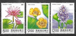 REPUBLIC OF CHINA FLOWERS STAMPS SET MNH - 1945-... República De China