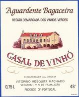 Brandy Label, Portugal - Aguardente Bagaceira CASAL DE VINHÓ / Vermoim, Vila Nova Famalicão - Labels