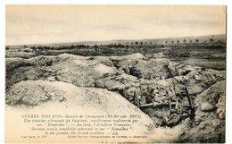 CPA Tranchée Allemande Du Palatinat ( Guerre 14 - 18 ) - Oorlog 1914-18