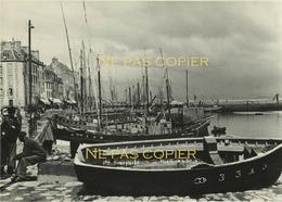 DOUARNENEZ Le Port Vers 1950 Grande Photo 11,8 X 16,9 Cm Finistère 29 Bretagne - Places
