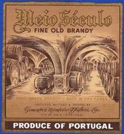 Brandy Label, Portugal - Fine Old Brandy MEIO SÉCULO / Vila Nova De Gaia - Labels